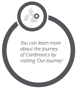 You can learn more about the journey of Cardtronics UK by visiting 'Our Journey'